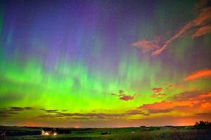 colorful aurora skyview