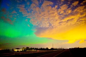aurora sky view colors